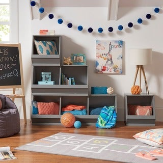 Riley Modular Stacking Storage Bins by iNSPIRE Q Junior
