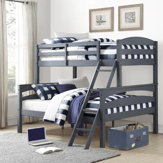 Dorel Living Brady Grey Twin over Full Bunk Bed