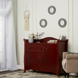 Dream On Me Back Bay Cherry Finish Wooden Chest Combo