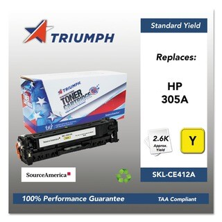 HP 305A (CE412A) Yellow Original LaserJet Toner Cartridge 2600 Page-Yield