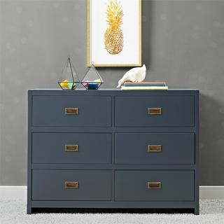 Avenue Greene Jordan Wood 6 Drawer Dresser