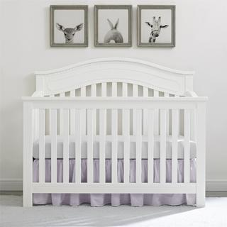 Baby Relax Rivers Pure White 5-in-1 Convertible Crib