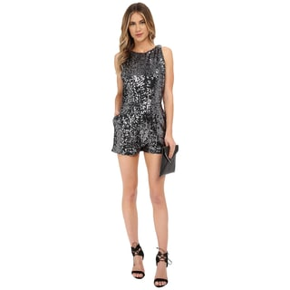 BB Dakota Women's Callan Grey Sequin Romper