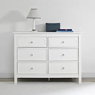 Baby Relax Rivers Pure White 6 Drawer Dresser