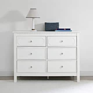Baby Relax Rivers Pure White 6 Drawer Dresser. Baby Furniture For Less   Overstock com