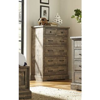 Progressive Grey Pine Wood Chest of Drawers