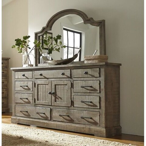 Progressive Grey Pine Wood Meadow Door Dresser