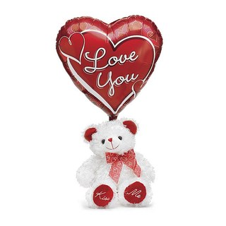 I Love You Teddy Bear and Balloon Valentine's Day Gift