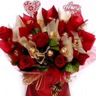 Red Roses and Ferrero Rocher Chocolates Bouquet