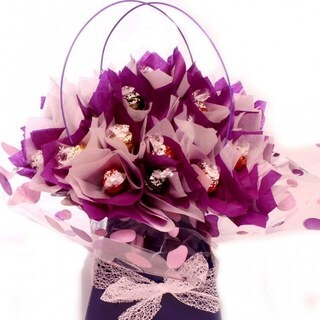 Lavender and Lindt Candy Bouquet