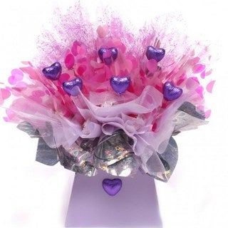 My Purple Heart Lindor Candy Bouquet