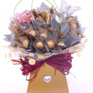 Shimmer Delights Ferrero Rocher Chocolate Bouquet Gourmet Gift Basket
