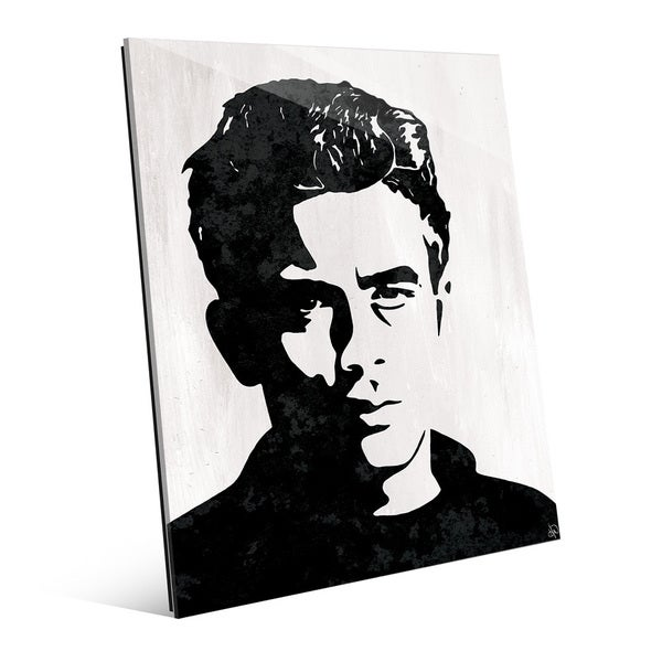 Shop \'James Dean\' Glass Wall Art - Free Shipping Today - Overstock ...