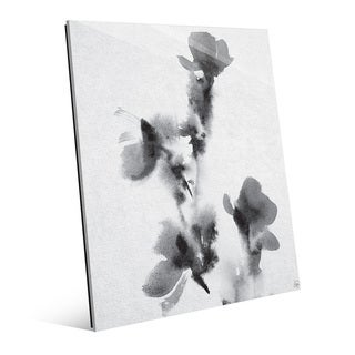 Floral Stamp Wall Art Print on Glass