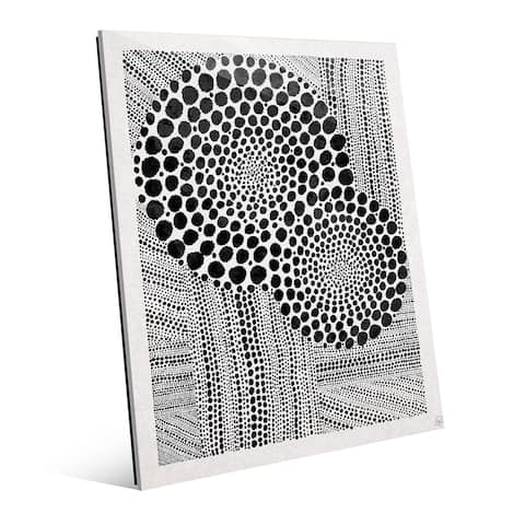 'Radiance' Black On White Glass Wall Art Print