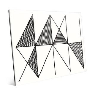 Crosshatch Horizontal B&W Wall Art Print on Glass