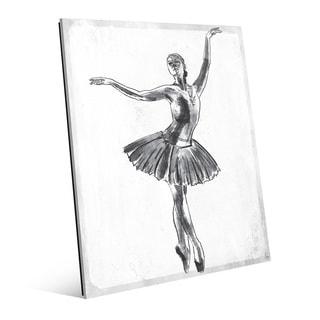 'Elegant on White' Wall Art Print on Glass