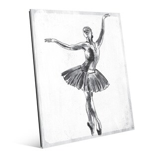 'Elegant on White' Wall Art Print on Glass