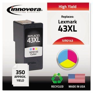 Innovera Remanufactured 18Y0143 (#43) Ink 350 Yield Tri-Color
