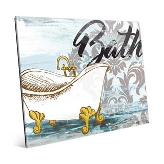 'Bath Tub Black' Glass Wall Art