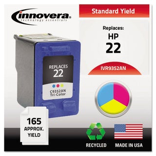 Innovera Remanufactured C9352AN (22) Ink 165 Page-Yield Tri-Color