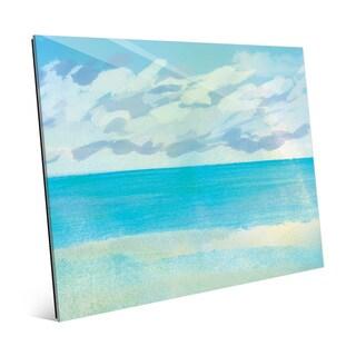 'Azure Scenery' Wall Art Print on Glass
