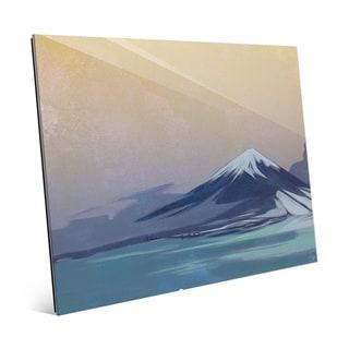 'Indigo Tinted Fuji' Glass Wall Art