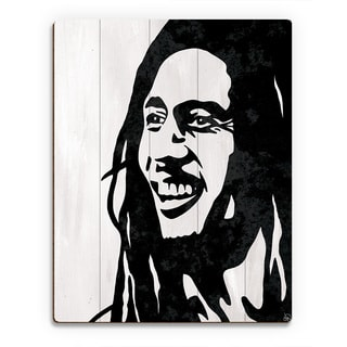'Bob Marley' Wood Wall Art Print