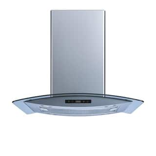Winflo O-WH102B30 30-inch Stainless Steel/Tempered Glass Convertible Island Range Hood|https://ak1.ostkcdn.com/images/products/13993080/P20616770.jpg?impolicy=medium