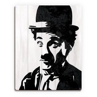 'Charlie Chaplin' Wood Wall Art Print