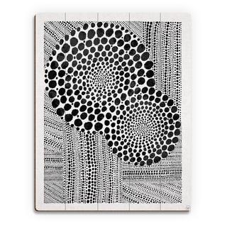 Radiance Black on White Wall Art Print on Wood