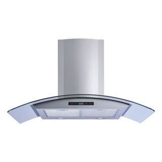 Winflo O-W101B30 30-inch Stainless Steel/Tempered Glass Convertible Wall Mount Range Hood