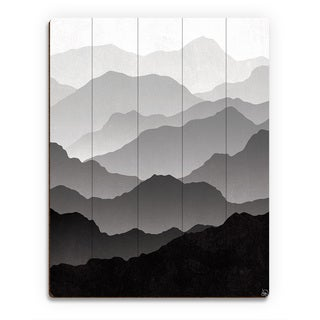 'Contrast In Distance' Wood Print Wall Art
