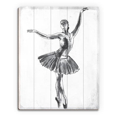 'Elegant on White' Wall Art Print on Wood