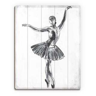 'Elegant on White' Wall Art Print on Wood