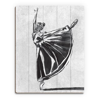 'Ballet Balance' Wood Wall Art Print