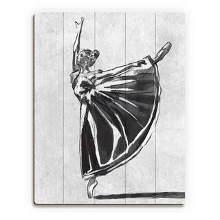 'Ballet Balance' Wood Wall Art Print