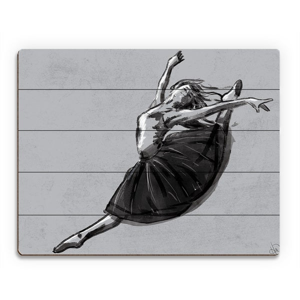 'Ballet Jete' Wood Wall Art Print