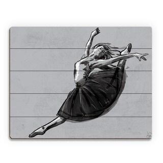 'Ballet Jete' Wood Wall Art Print