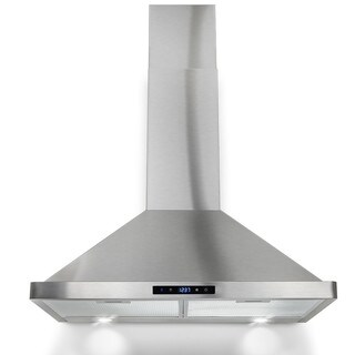 winflo ow103b30 30inch stainless steel convertible wall mount range hood