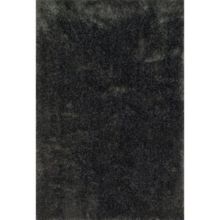Hand-tufted Dream Charcoal Shag Rug (7'9 x 9'9)