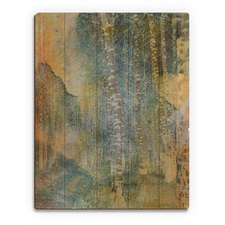'Yellow Forest' Screen Wall Art Print on Wood