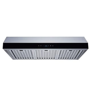 "Winflo 30"" 500 CFM Convertible Stainless Steel Under Cabinet Range Hood"