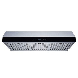 Winflo O-W111AB30D 30-inch Stainless Steel Ducted Under Cabinet Range Hood