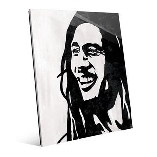 'Bob Marley' Black-and-white Acrylic Wall Art Print