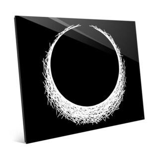 H Eclipse White on Black Wall Art Print on Acrylic