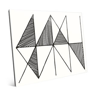 Crosshatch Horizontal Black and White Acrylic Wall Art