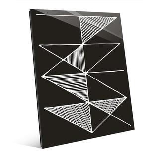 'Crosshatch' White and Black Acrylic Wall Art Print