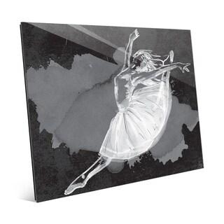 'Ballet Dancer' on Black Acrylic Wall Art Print
