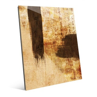 'Inclined Formation' Vintage Acrylic Wall Art